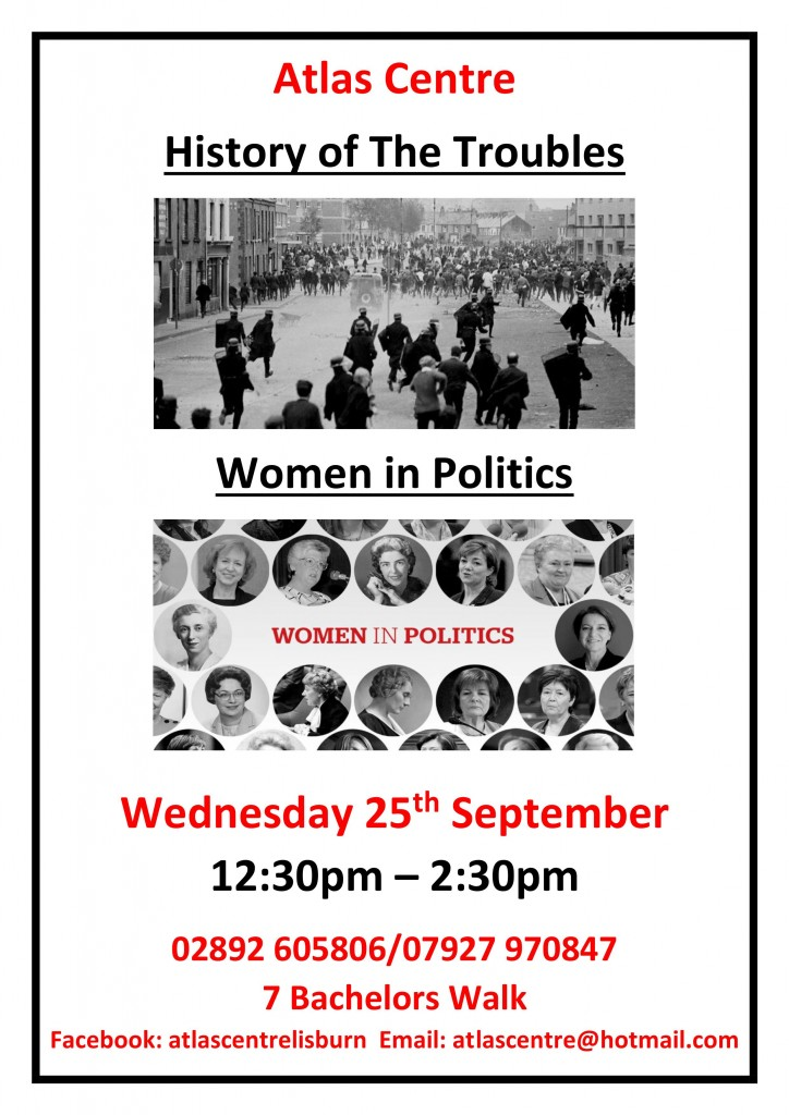 History of the Troubles Women in Politics